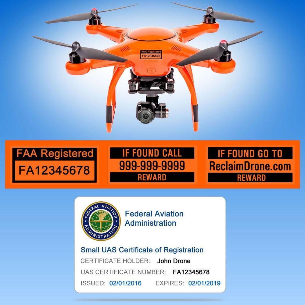 XStar Autel Drone FAA UAS Registration ID Card