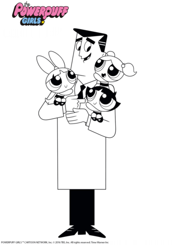 Professor Utonium The Creator Of The Powerpuff Girls Coloring Page Coloring Pages For Girls Powerpuff Girls Powerpuff