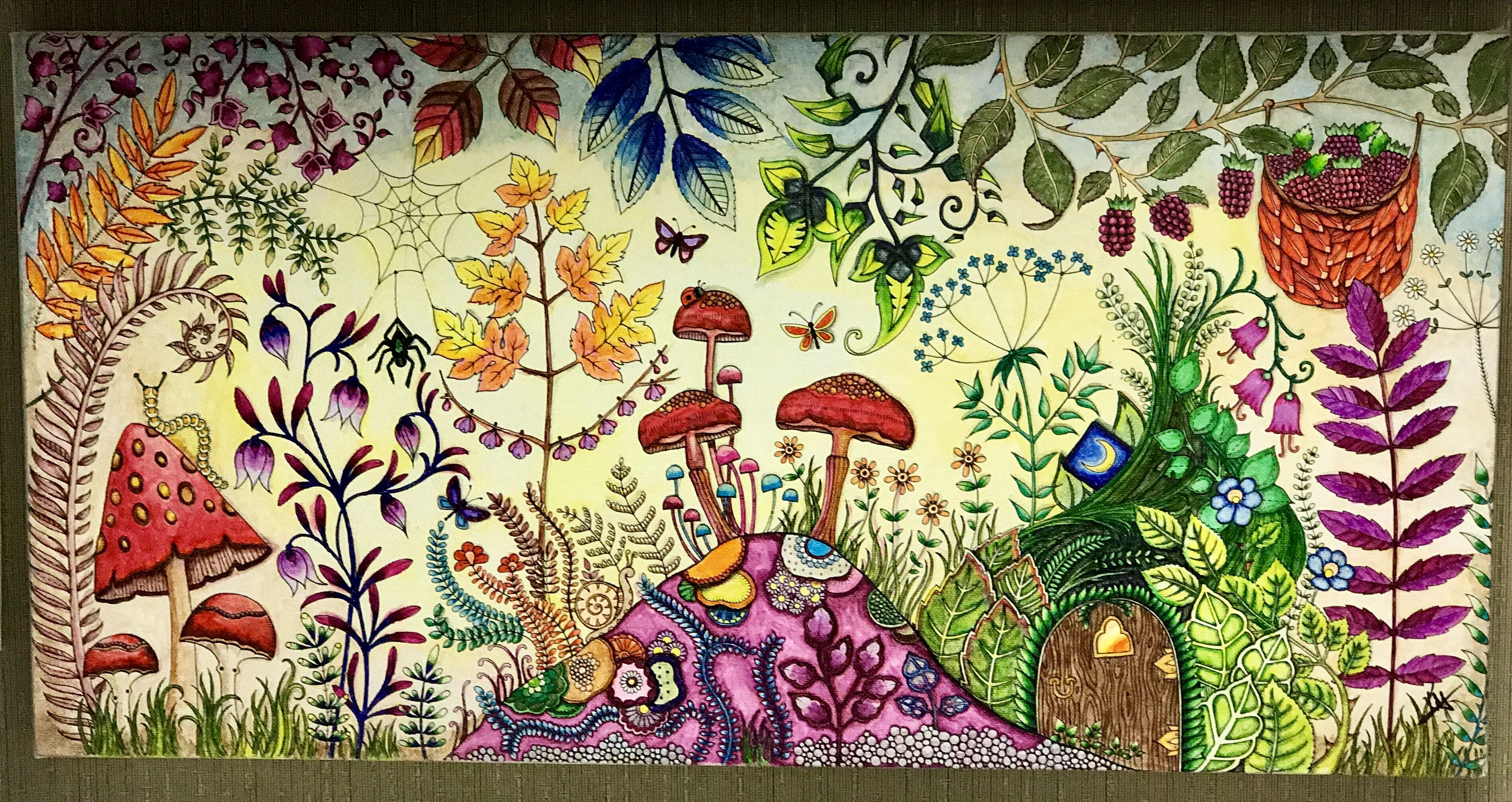 Faerie Forest From Enchanted Forest By Johanna Basford Done With Wat Enchanted Forest Coloring Enchanted Forest Coloring Book Johanna Basford Enchanted Forest