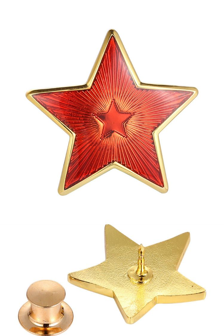 Red Star Flag Victory Day Collect Pin USSR Soviet Union Emblem Socialism Badge
