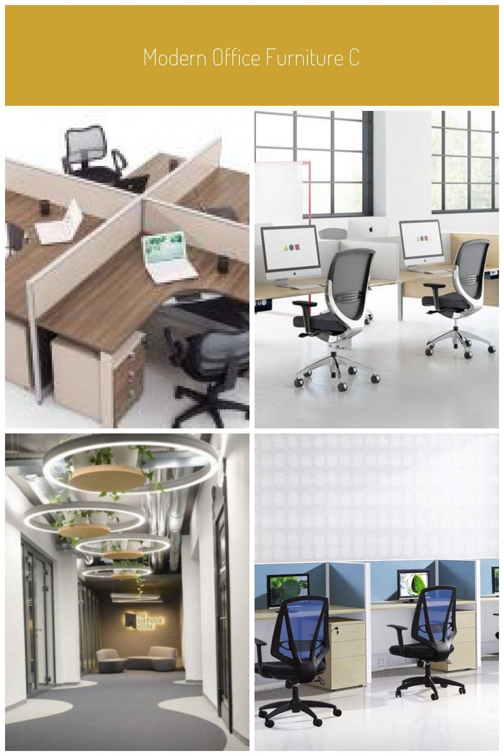Modern Office Furniture Commercial With Desk
