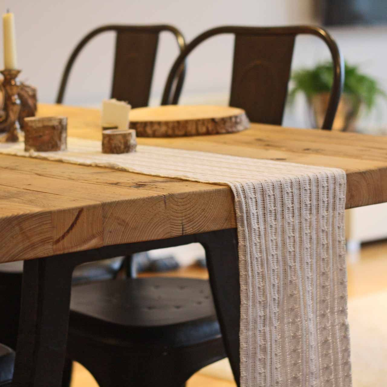 Knitted Table Runner 3m Table Table Runners Dining Table