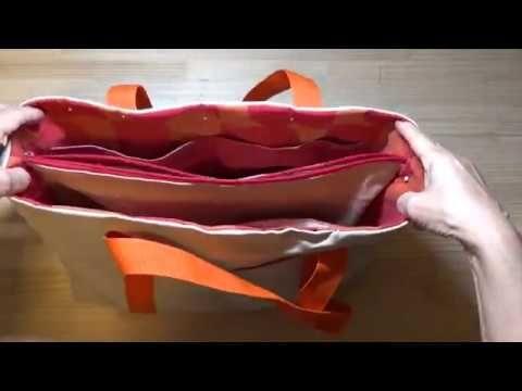 5d0d94c00e2c DIY トートバッグ 中仕切りがファスナーポケット 再アップ Partition zipper pocket in Bag Re
