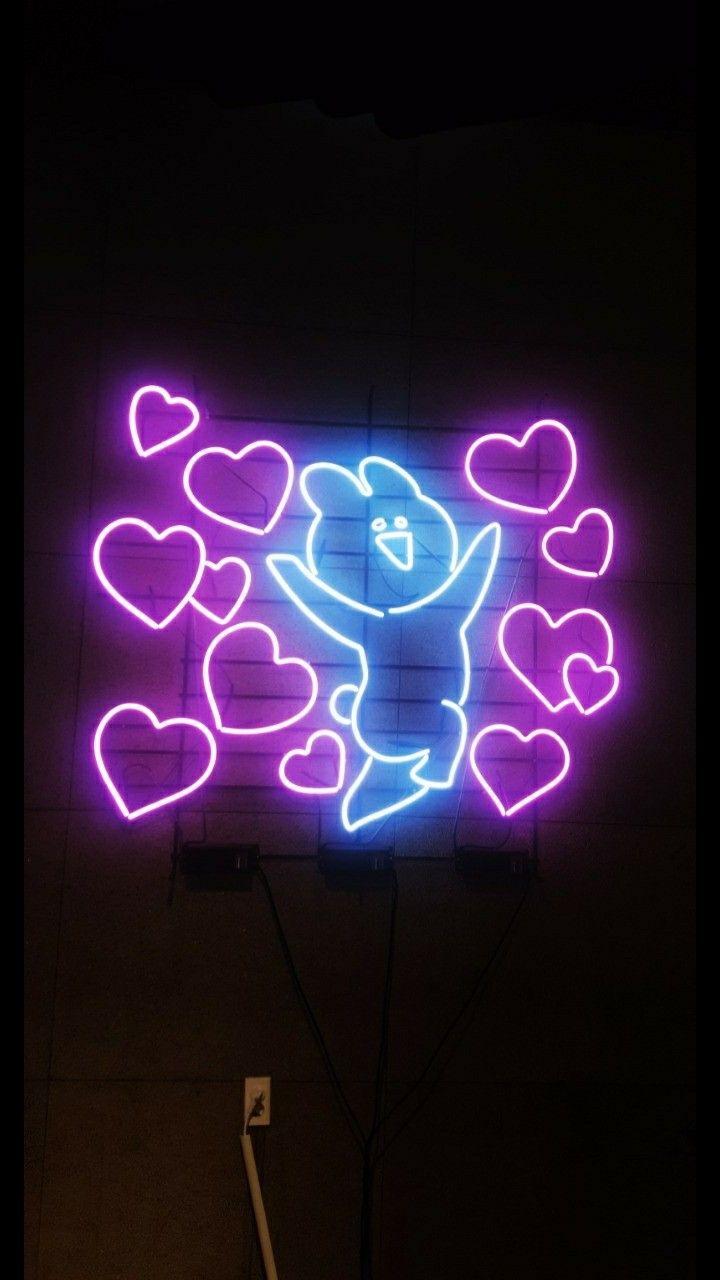 Neon sign tumblr wallpaper 오버액션 토끼 배경화면 | Wallpaper ...