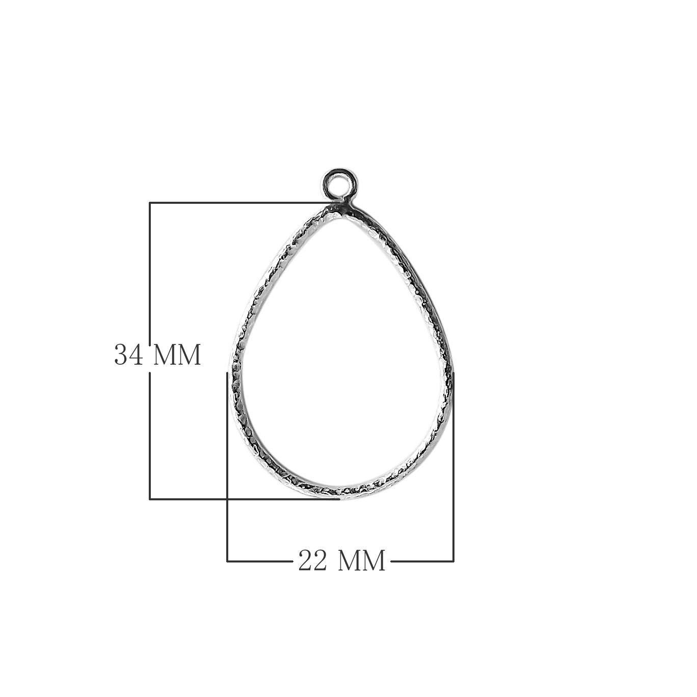 Silver Overlay Chandelier Earring Pear Shape FSF-184