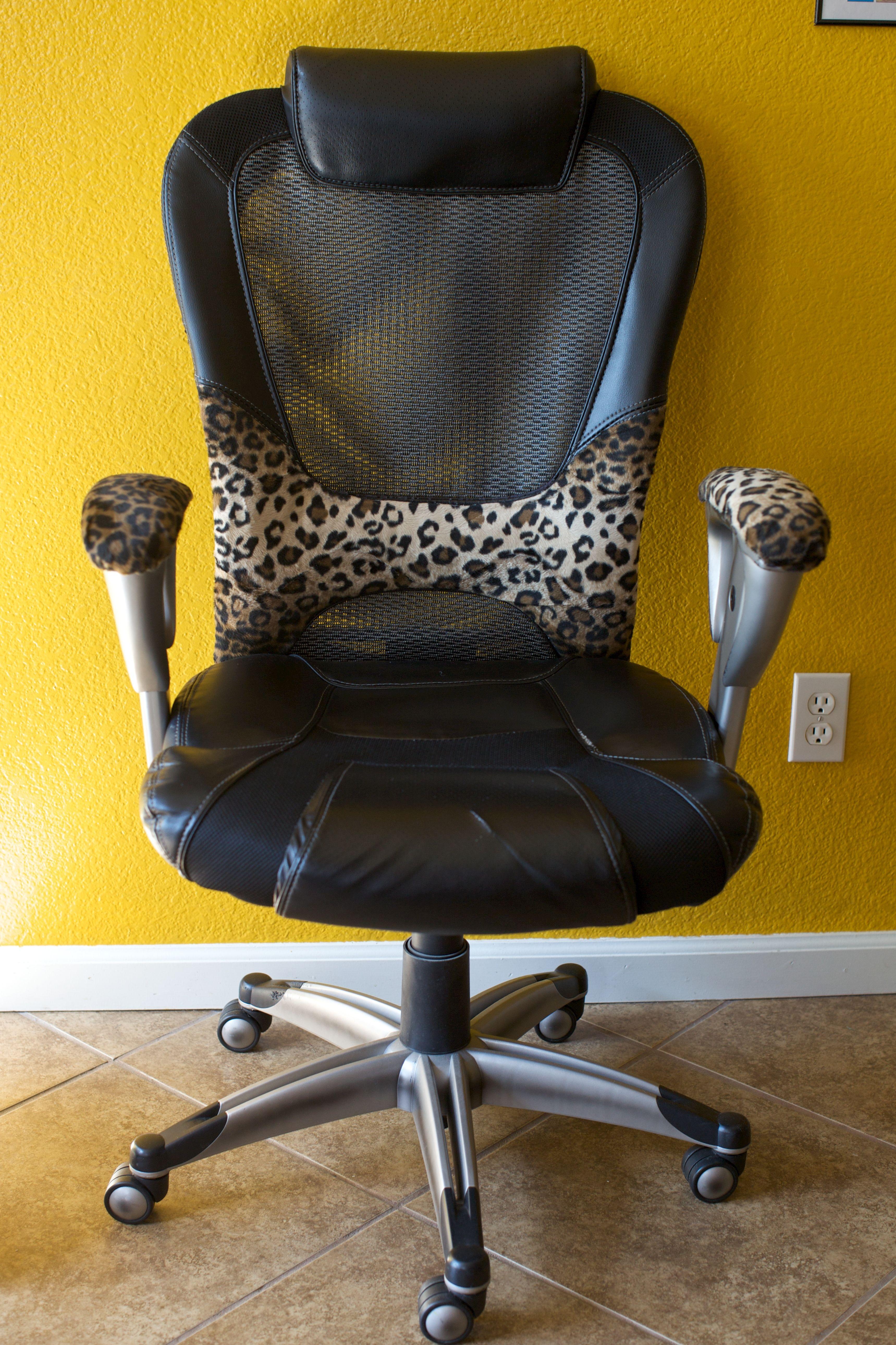 Cheetah Print Office Chair