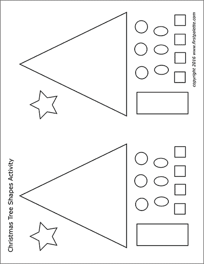 Christmas Tree Shapes Activity Template | Free Printable ...