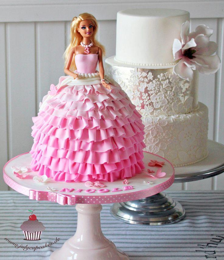 Bolos Barbie Elsa Cinderela Passo a passo Barbie cake designs