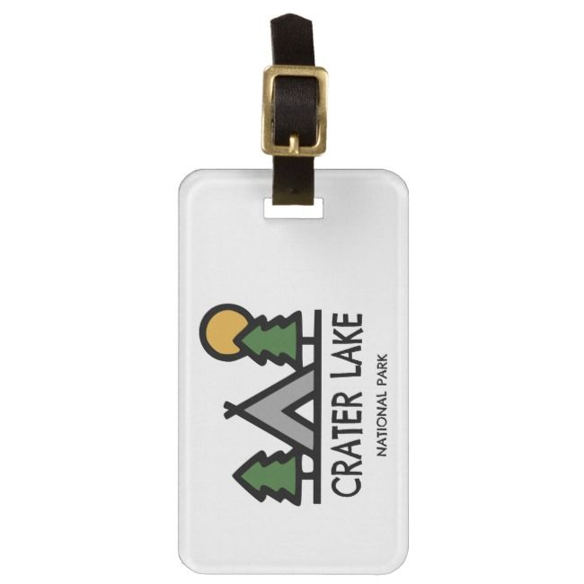 Crater Lake National Park Luggage Tag | Zazzle.com #craterlakenationalpark