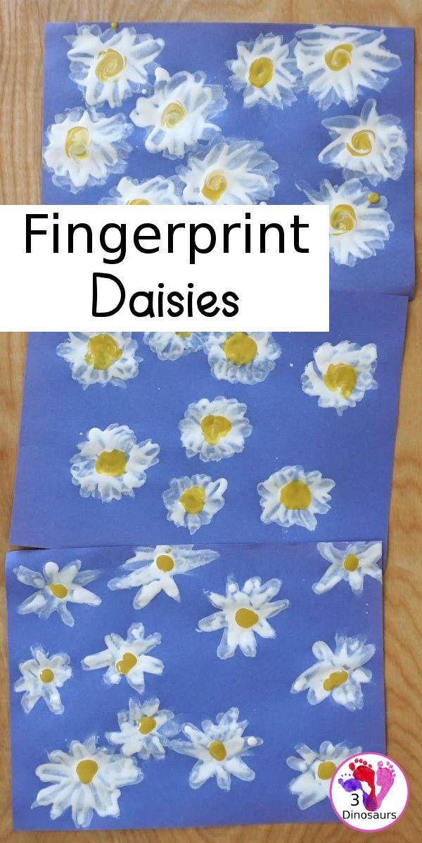 Making Fingerprint Daisies