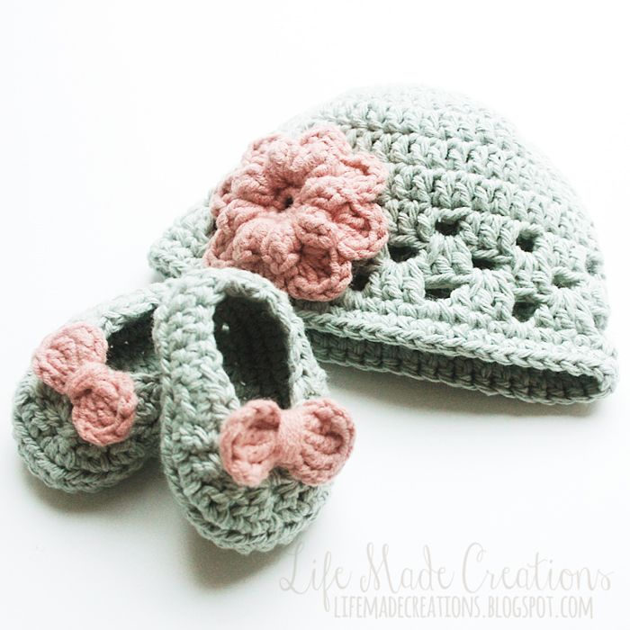 Life Made Creations: crochet : baby hat & booties | Crochet for Baby ...