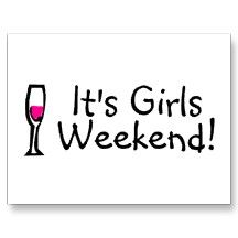 Girls Weekend Post Cards | Girls weekend quotes, Travel with ...