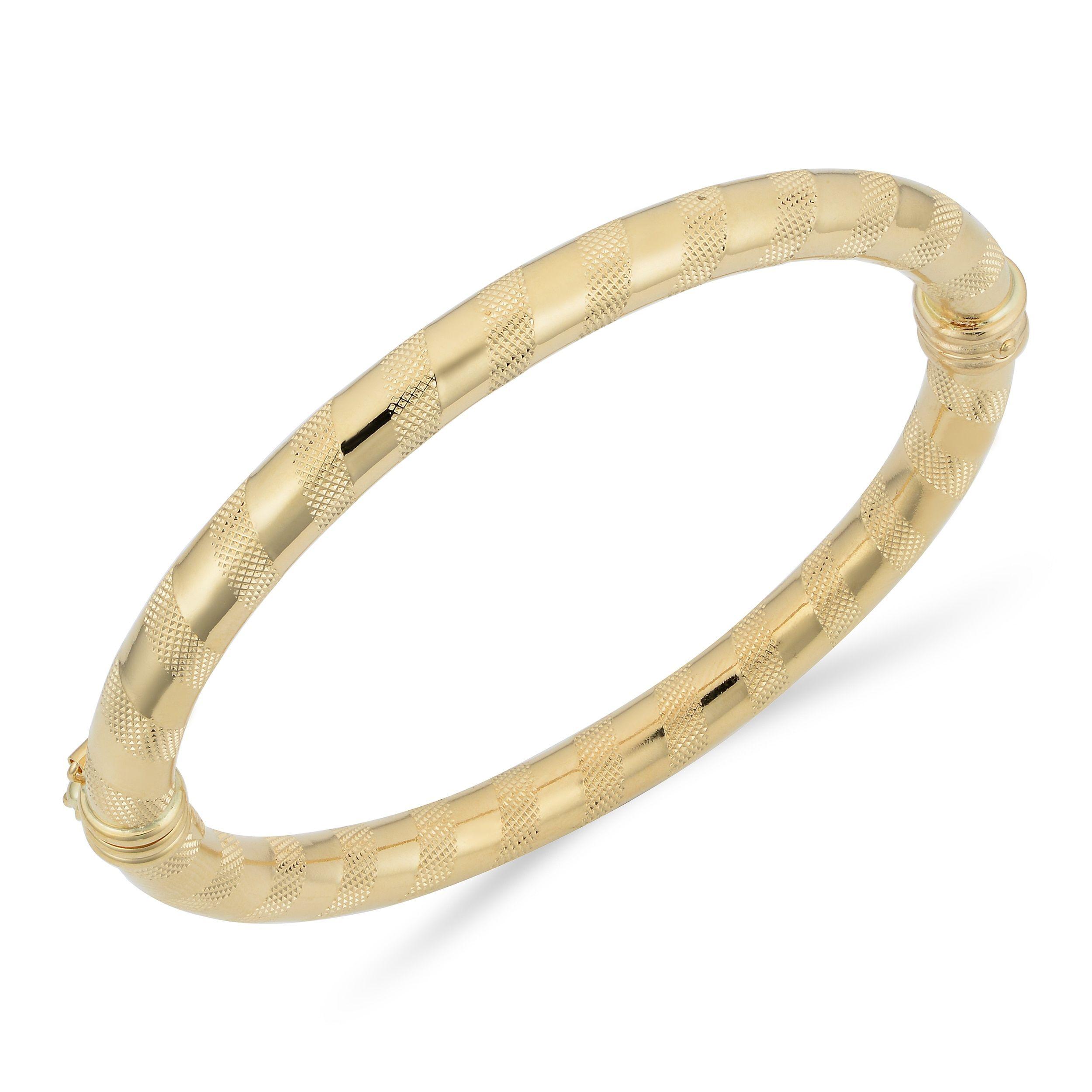 Fremada italian k gold mm hinged bangle bracelet products