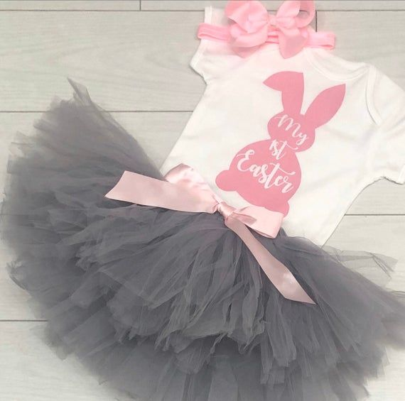Photo of Luxury Baby Girls 1st First Happy Easter Outfit Tutu Skirt Vest Top Photo Shoot …