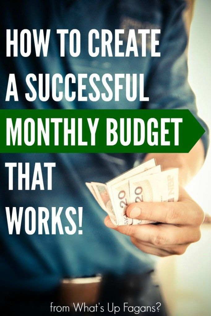Create a Successful Monthly Budget that Works {FREE Excel ...