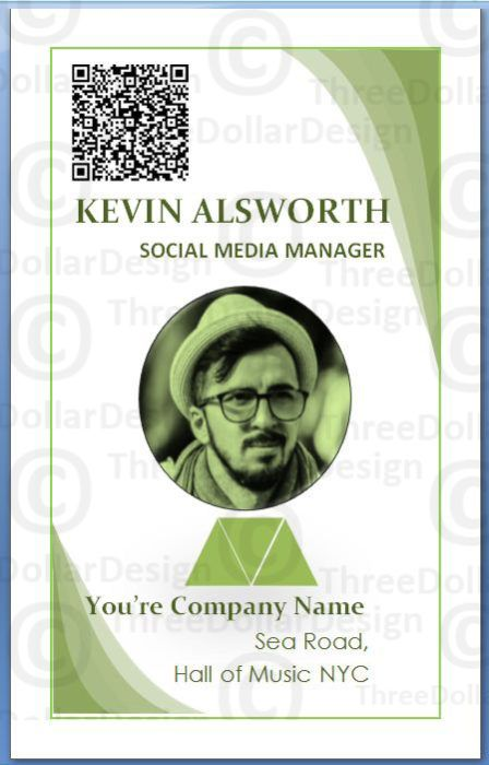 employee card templates
