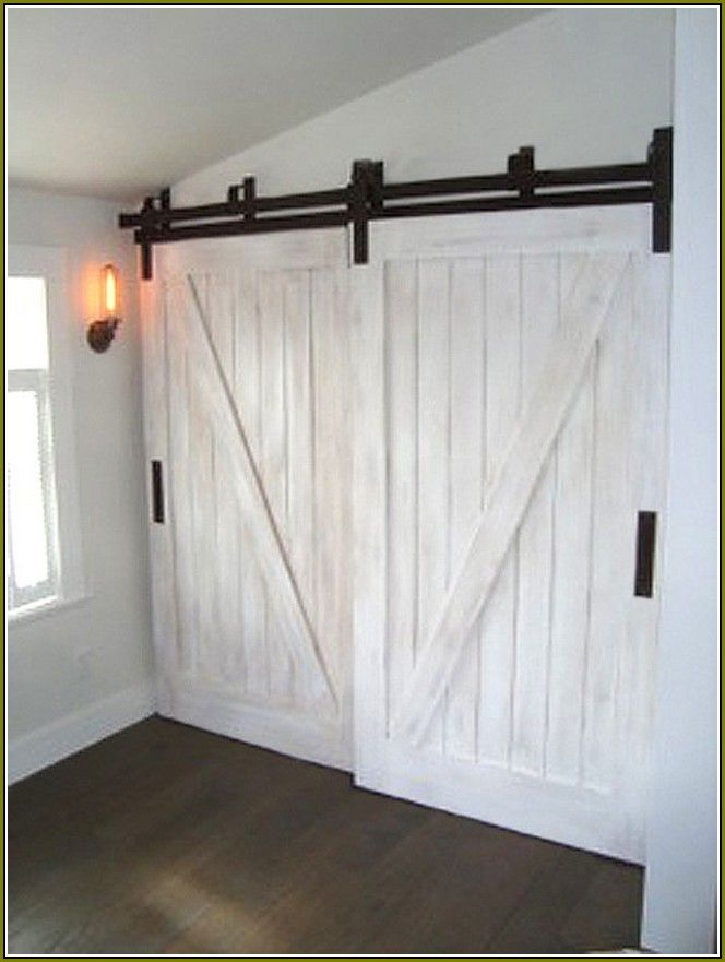 Create a new look for your room with these closet door for Bedroom barn door hardware