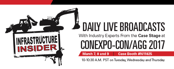 CONEXPO: Roads & Bridges' Infrastructure Insider with editor Bill Wilson opens today #construction