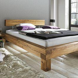 Balkenbett Madea Massiv Eiche Bett Mobel Bett Holzbetten