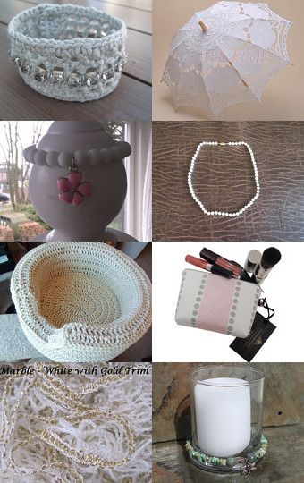 White Fall Accessories by Steve and Vicki Steinhauer on Etsy--Pinned with TreasuryPin.com