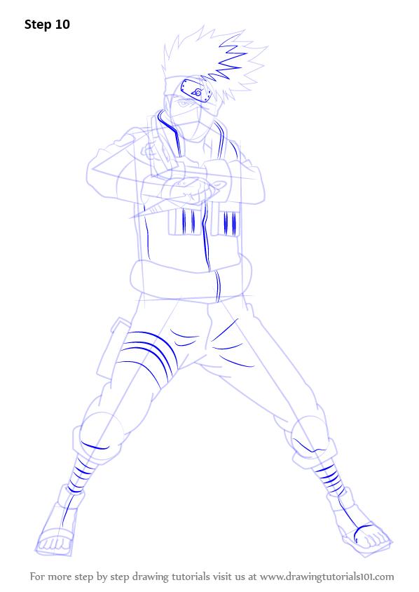 Full Body Kakashi Drawing : kakashi, drawing, Learn, Kakashi, Hatake, Naruto, (Naruto), Drawing, Tutorials, Kakashi,, Hatake,, Drawings