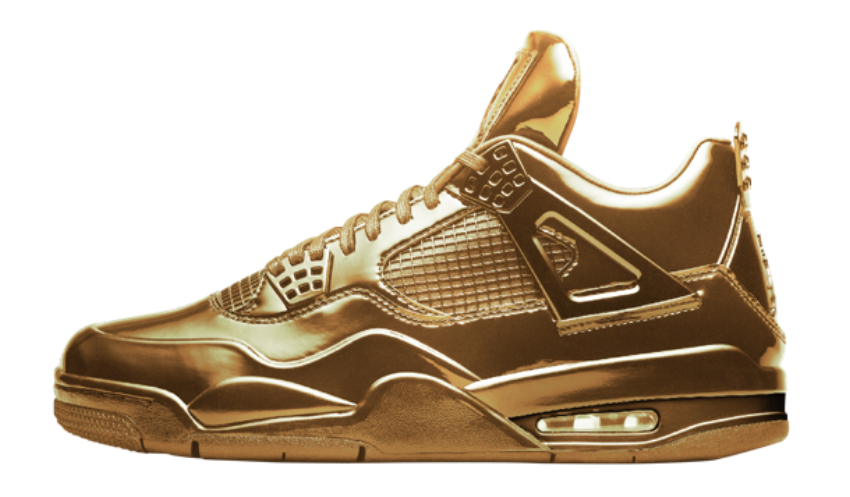 An all-gold Air Jordan 4 appeared on the Nike SNKRS app this morning  possibly