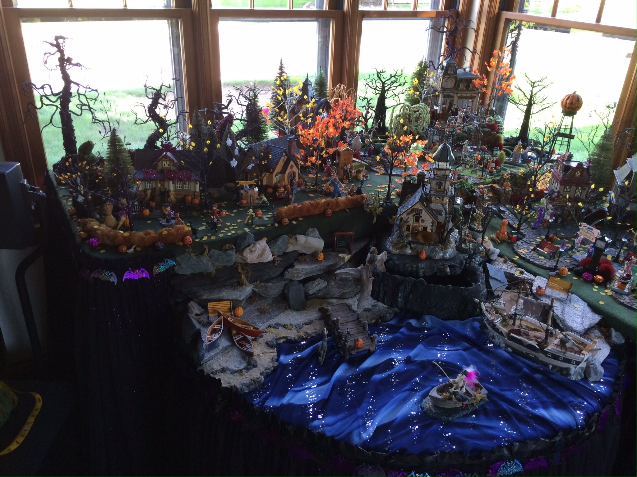 halloween miniature town #halloweenvillagedisplay