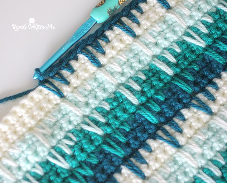 Crochet Spike Stitch Blanket #crochetstitches