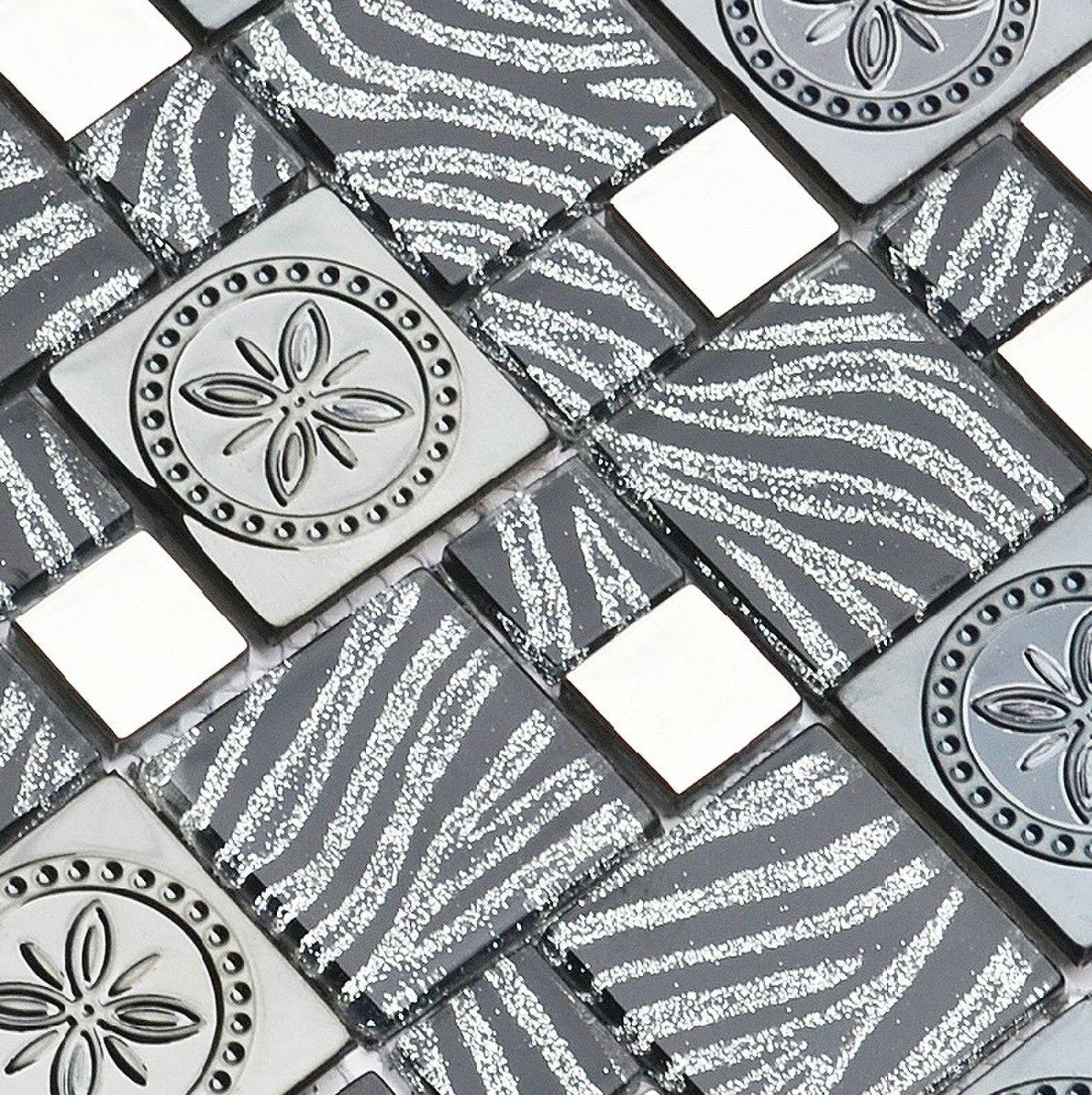 Stainless steel tile backsplash SSMT291 kitchen mosaic glass wall ...