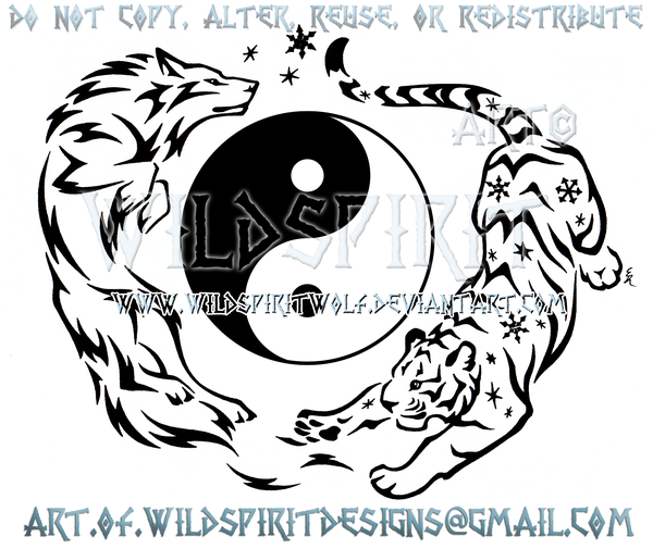 e273ff47c Electric Wolf And Flurry Tiger - Yin Yang Design by WildSpiritWolf. deviantart.com on @DeviantArt