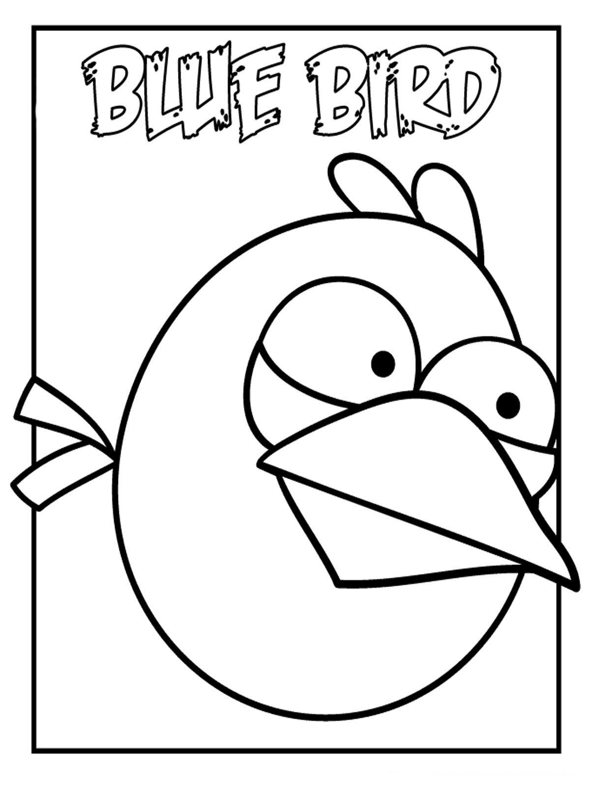 Angry Bird Blue Bird Kleurplaten