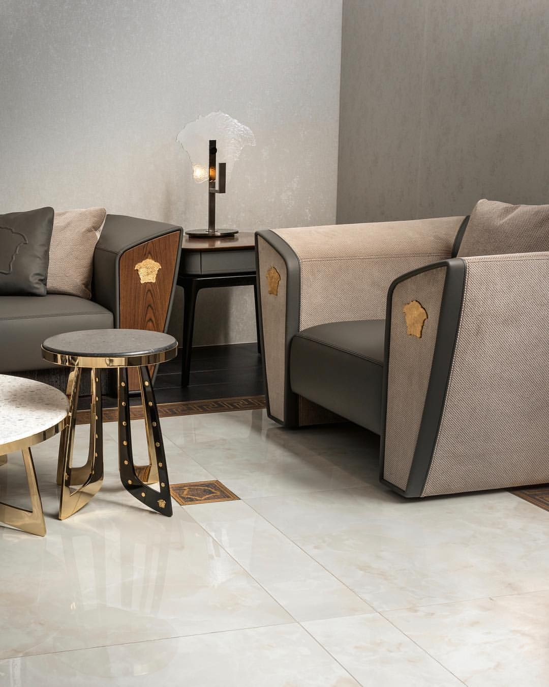 The VM11 Home Furnishing Line Named After The Versace Flagship Boutique In Via Montenapoleone … | Luxury Furniture Sofa, Living Room Sofa Design, Luxury Sofa Design
