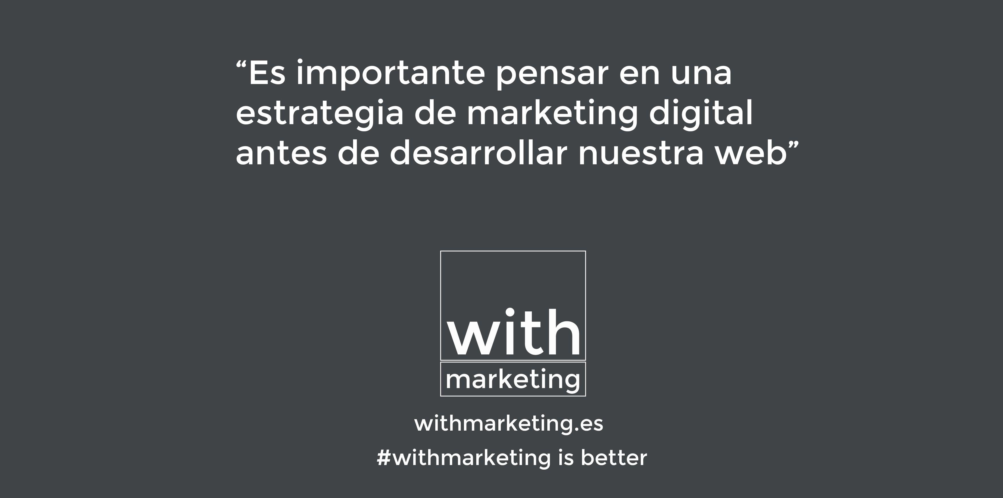 Antes de realizar un diseño web piensa en la estrategia de marketing digital  #web #diseñoweb #withmarketing #marketing #estrategia #diseño
