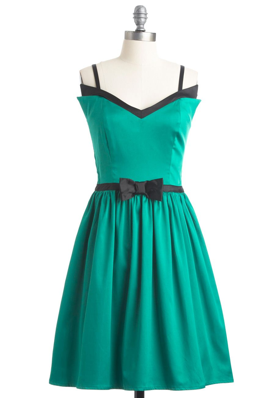 With Only a Wink A-Line Dress in Peridot   Swing dancing, Sweetheart ...