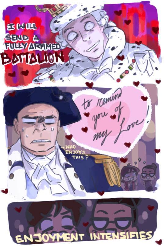 Actual yandere King George III | Hamilton | Hamilton comics