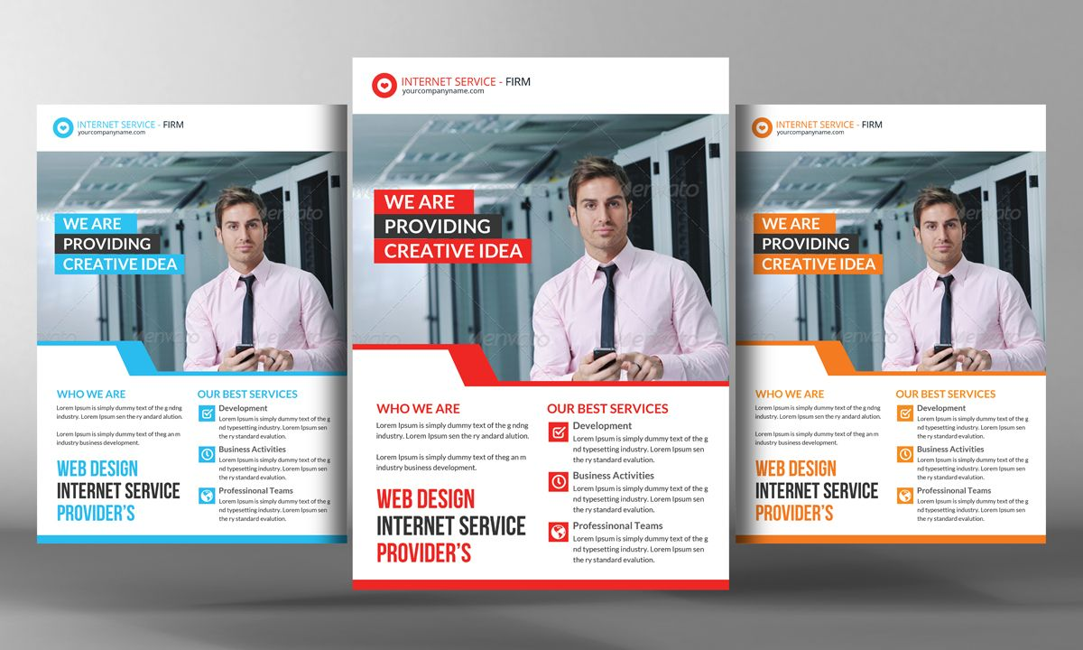 Internet Service Provider Flyer by Business Templates on ...