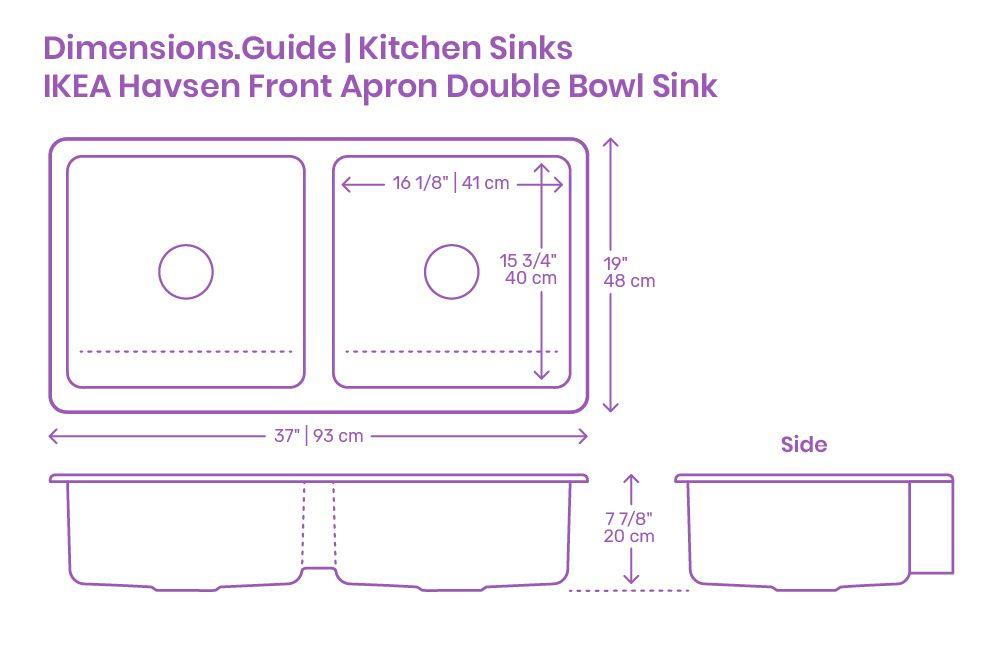 Ikea Havsen Front Apron Double Bowl Kitchen Sink In 2020 Double Bowl Kitchen Sink Sink Ikea Farmhouse Sink