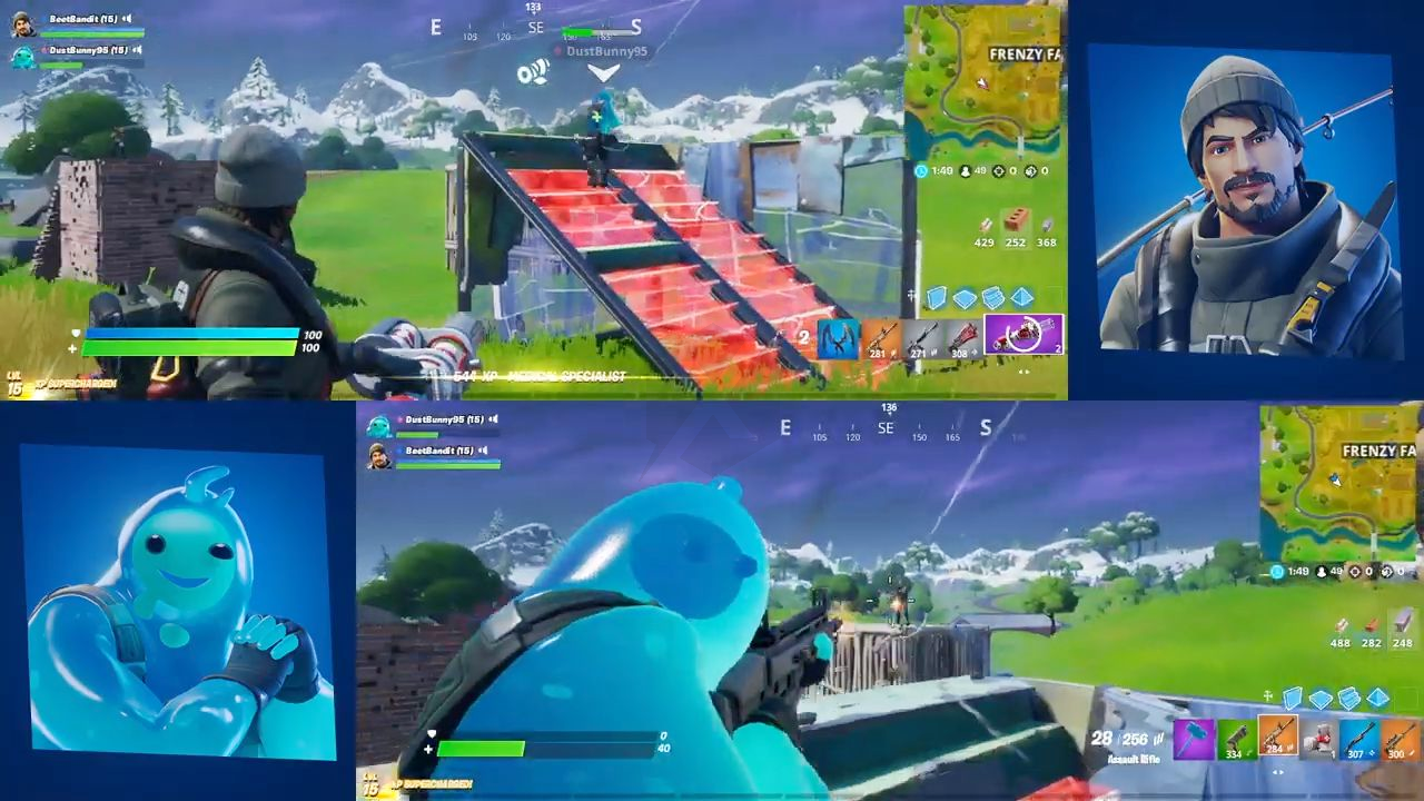 The Split Screen Mode Of Fortnite Is Back On Ps4 And Xbox One Fortnite Xbox One Xbox