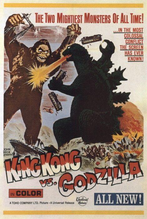 Vintage Movie Poster King Kong Vs Godzilla 1963 King Kong Vs