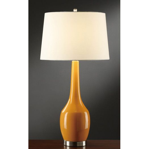 Crestview Collection Orange Tablecrestview Collectiontable Lampleslight