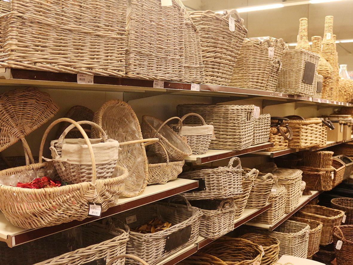 Ampia gamma di cesteria porta legna cesti per la tavola for Cesti porta legna ikea