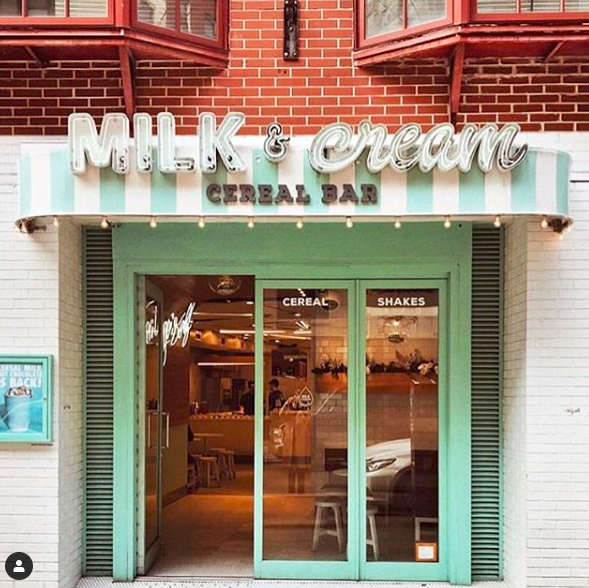 MILK AND CREAM CEREAL BAR - 159 MOTT STREET