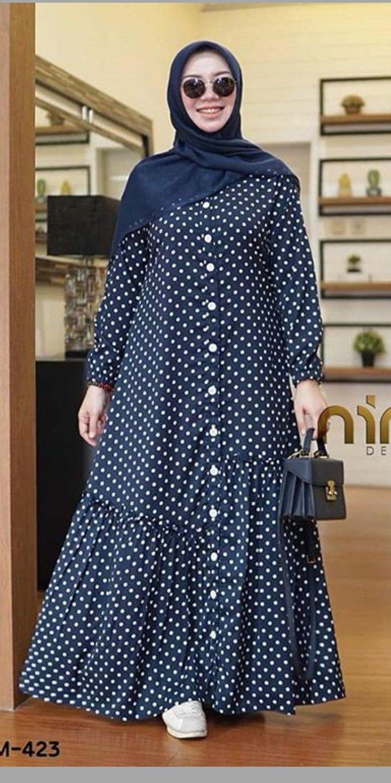 Batik polkadot Model baju wanita
