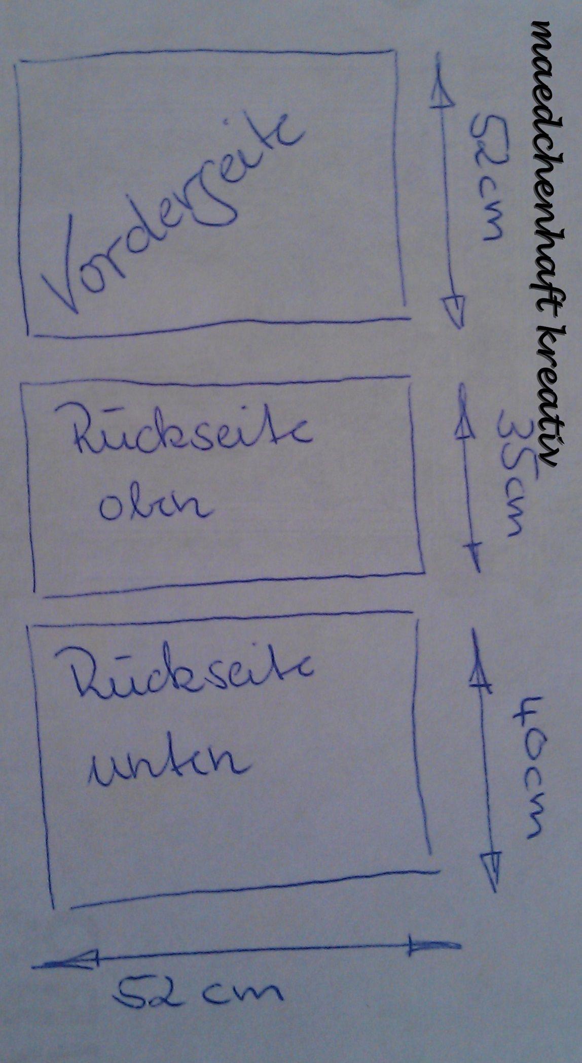 Schritt 1: Schneidet Vorderseite, Rückseite oben und Rückseite unten zurecht