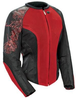 LADIES MOTORCYCLE RIDING JACKET JOE ROCKET CLEO 2.2 JACKET RED