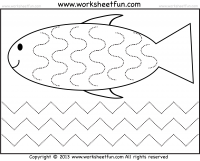 Curved and Zig Zag Line Tracing – 1 Worksheet