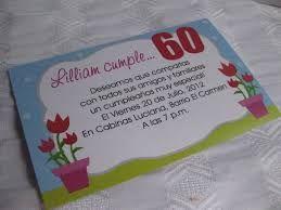 Resultado De Imagen Para Tarjetas De Invitacion 60 Años