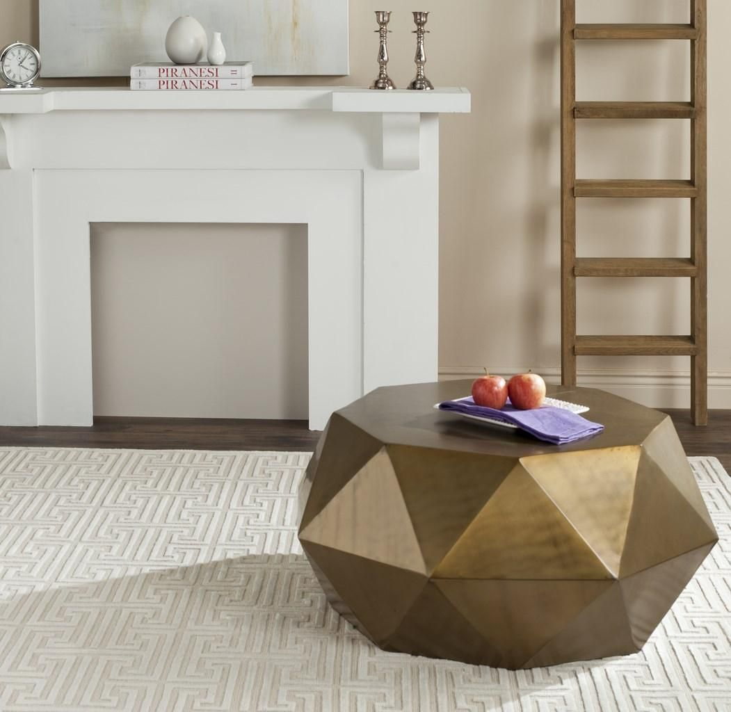 Fox3223a Coffee Tables Furniture By Safavieh Drum Coffee Table Coffee Table Coffee Table Furniture [ 1024 x 1051 Pixel ]