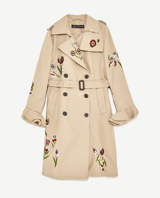 Image 11 of EMBROIDERED TRENCH COAT from Zara