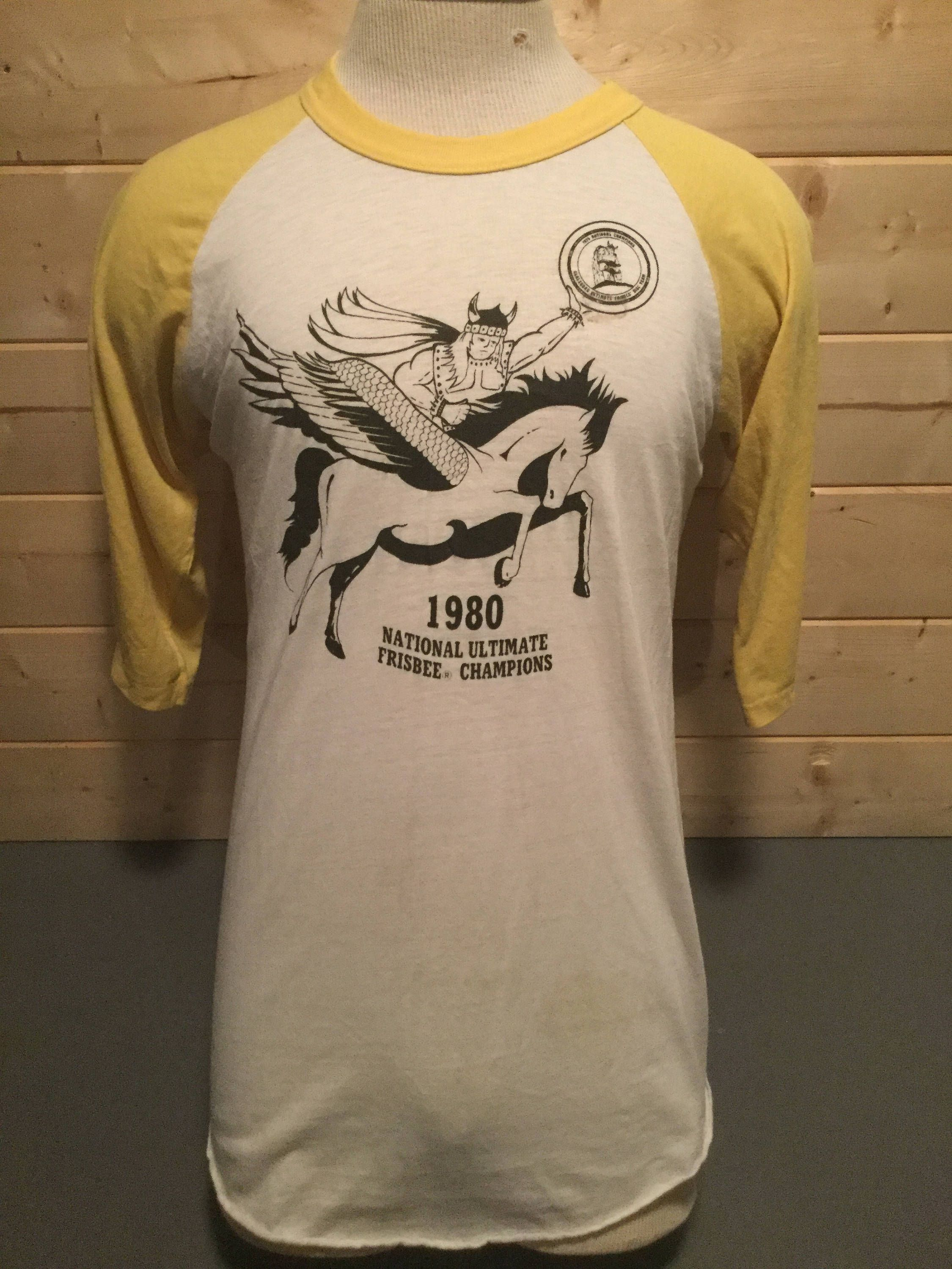 e7648bc3 Incredible Vintage 1980 Ultimate Frisbee Tourist 50/50 Raglan T-Shirt Great  Made in USA by 413productions on Etsy